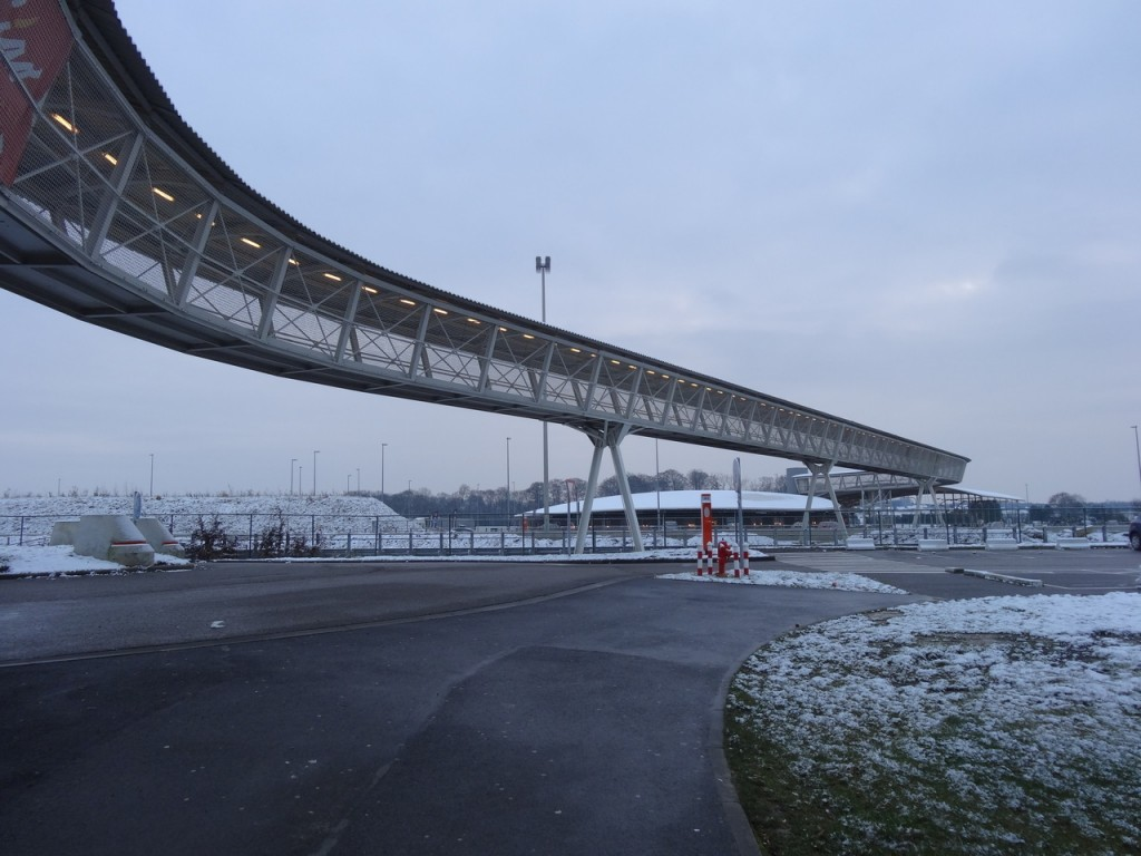 Une aire d'autoroute aux alentours de Namur
