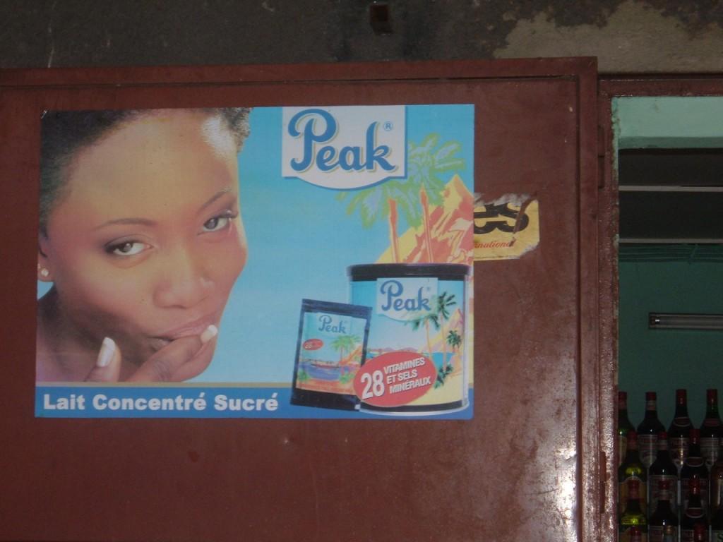 le lait concentré Peak.