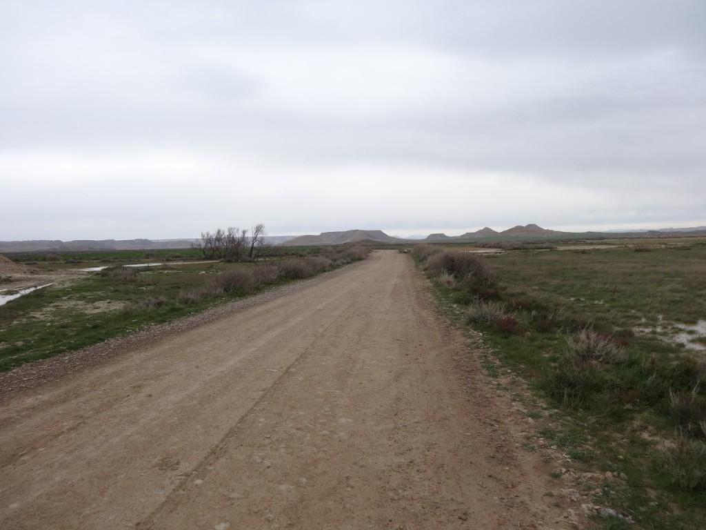 La route jusqu'aux Bardenas