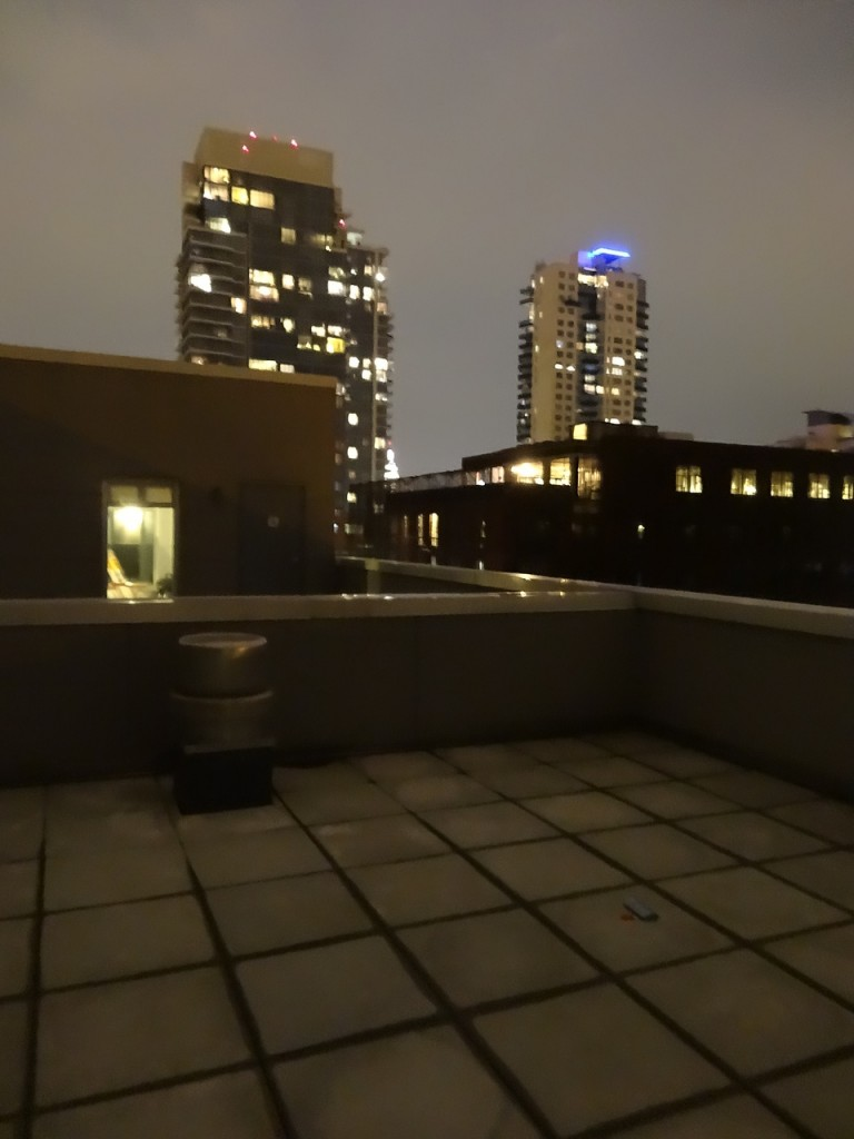 Sur le toit du building