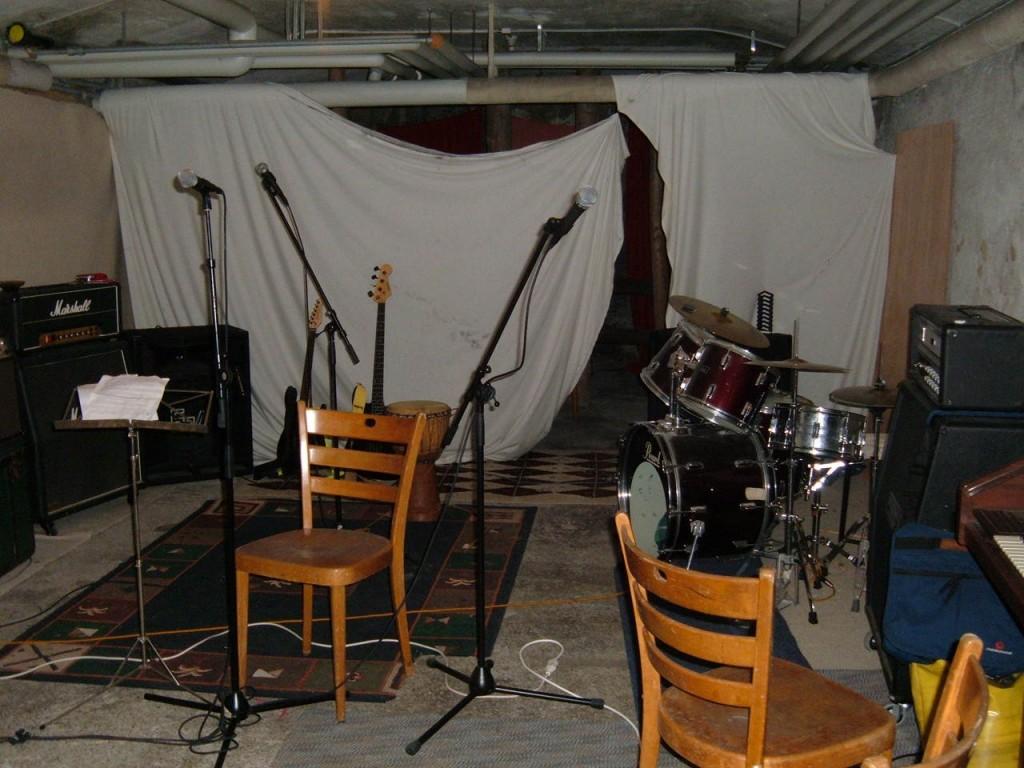 La salle de répét' dans la cave