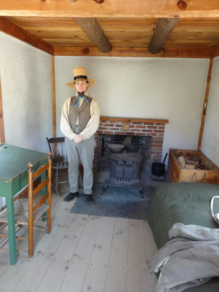 Thoreau dans sa cabane